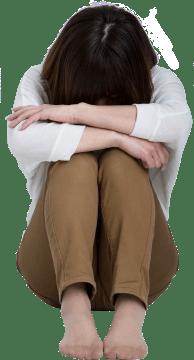 慢性痛で悩む女性
