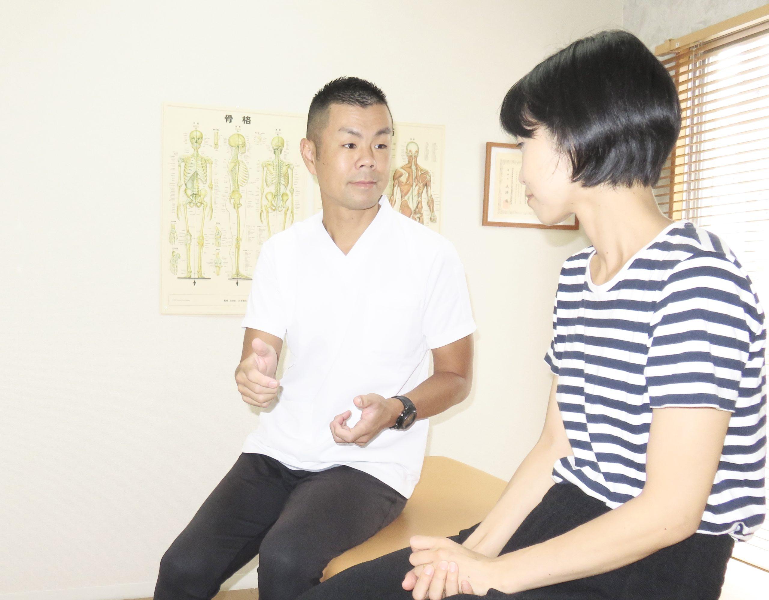 慢性痛専門ひろの整体院 施術の流れ